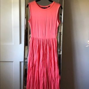 French Connection coral maxi dress